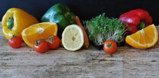 green vegetables and citrus fruits